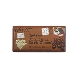 Chocolove Dark Chocolate Bar, 3.2 oz bars, Coffee Crunch 12 ea
