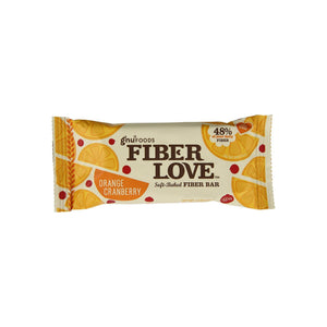 Gnu Foods Fiber Love Bar, 1.6 oz Bars, Orange Cranberry 16 ea
