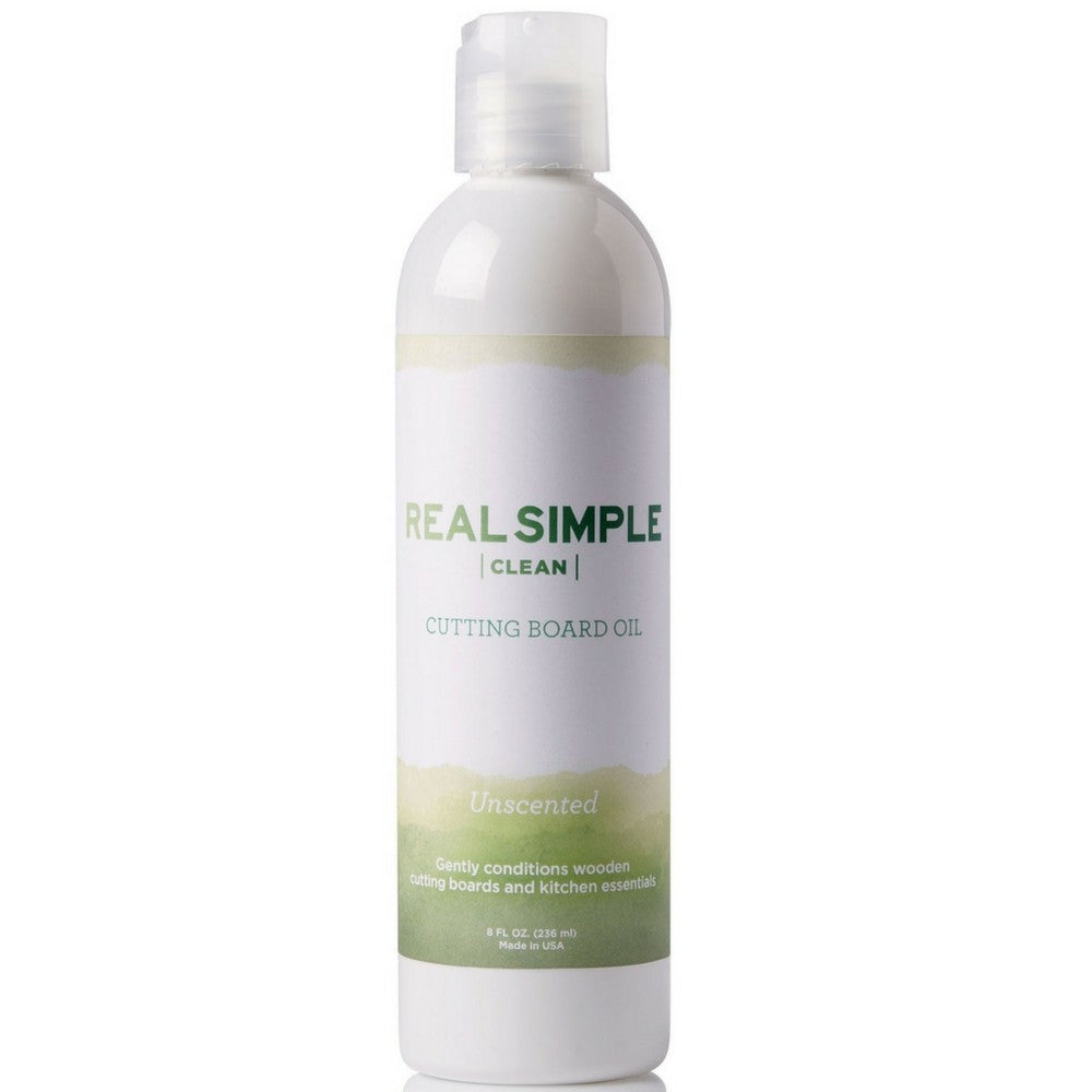 Real Simple Clean 100% Food Grade Mineral Oil, for Cutting Boards, Butcher Blocks, and Kitchen Essentials, Made in USA and Not Tested on Animals, 8 oz