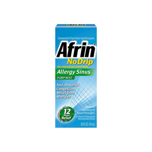 Afrin No Drip Allergy Sinus Pump Mist, Nasal Spray 1/2 oz