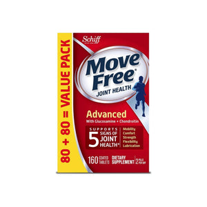 Move Free Advanced, Joint Health Supplement with Glucosamine & Chondroitin 160 ea