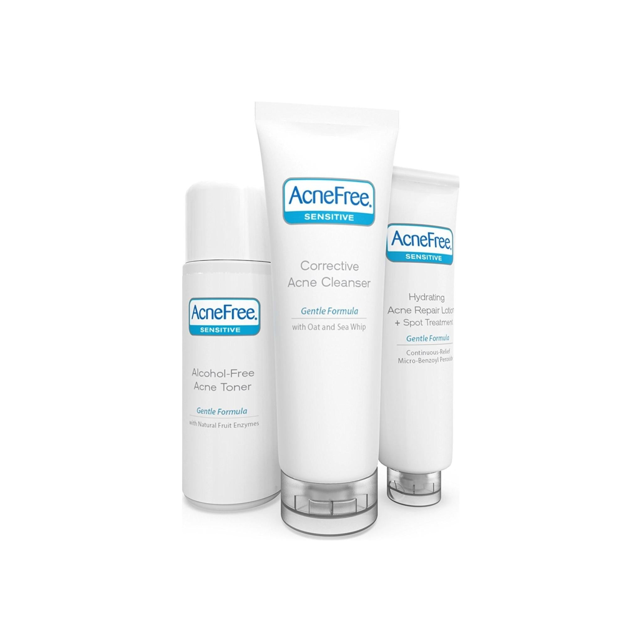 Acnefree Sensitive Skin Acne Clearing System 3 Pc Kit 10 Oz