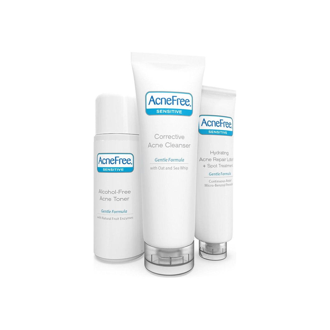 AcneFree Sensitive Skin Acne Clearing System (3 pc kit) 10  oz - Pharmapacks