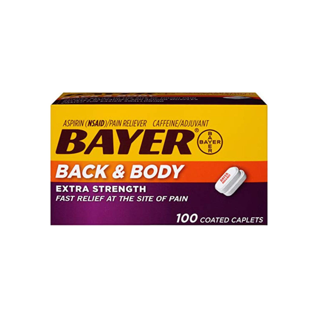 Bayer Extra Strength Back & Body 500 mg Caplets, 100 ea
