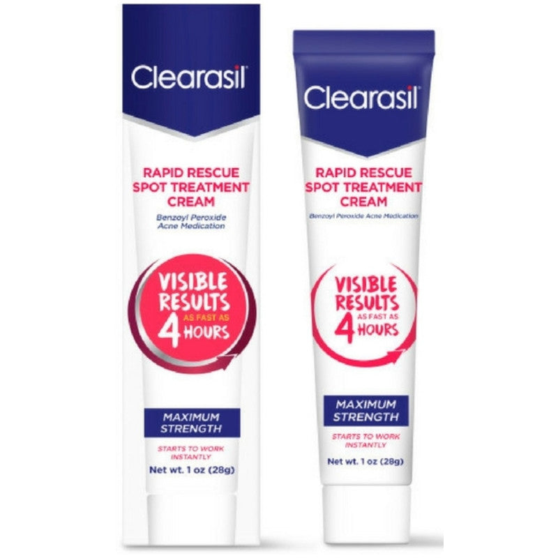Clearasil Rapid Rescue Acne Spot Treatment Cream, 1 oz