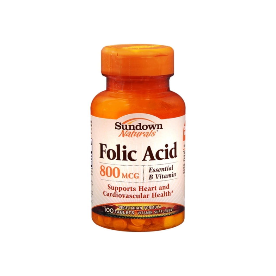 Sundown Folic Acid 800 mcg Tablets 100 Tablets