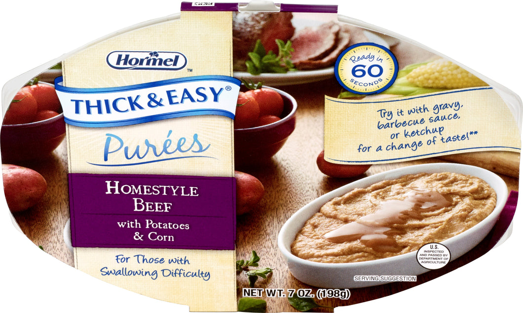 Hormel Health Lab THICK & EASY® Purees Homestyle Beef with Potatoes & Corn, 7 oz ea (1 case)
