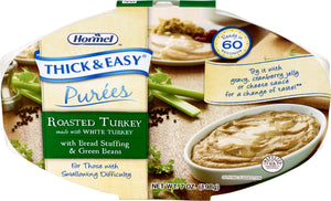 Hormel Health Lab THICK & EASY® Purees Roasted Turkey with Bread Stuffing & Green Beans, 7 oz ea (1 case)