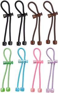 Pulleez Set of 4 Acrylic (Brown/Black) & Set of 4 pink, green, light blue, & purple (Bundle) 1 ea
