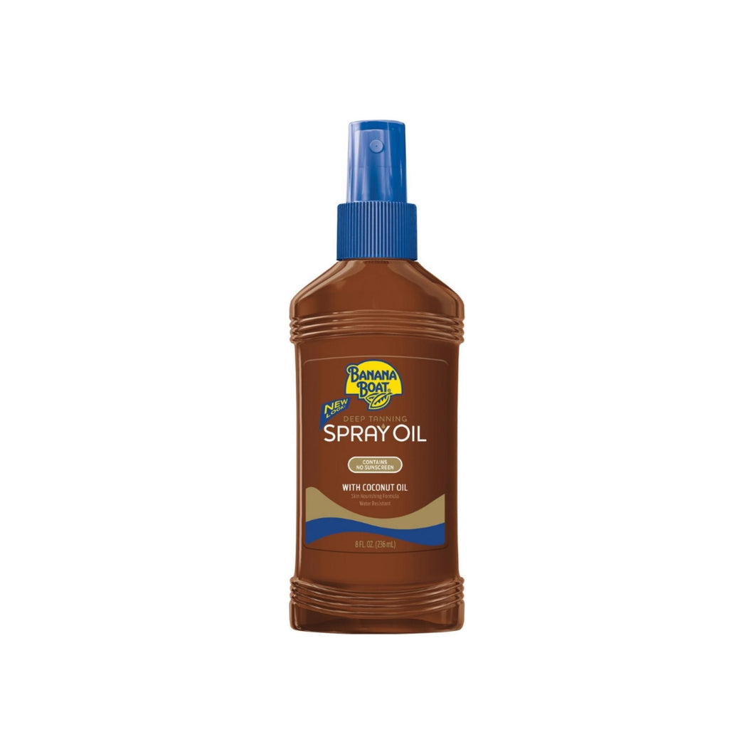 Banana Boat Deep Tanning Spray Oil with Coconut Oil 8 oz