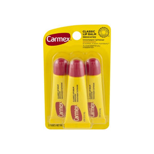 Carmex Original Flavored Lip Balm 0.35 oz, 3 ea