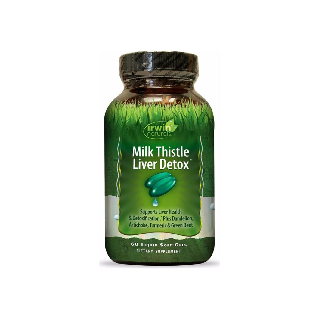 Irwin Naturals Milk Thistle Liver Detox Supplement 60 ea