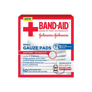 BAND-AID Brand Small Gauze Pads, 2 x 2 Inch  10 ea