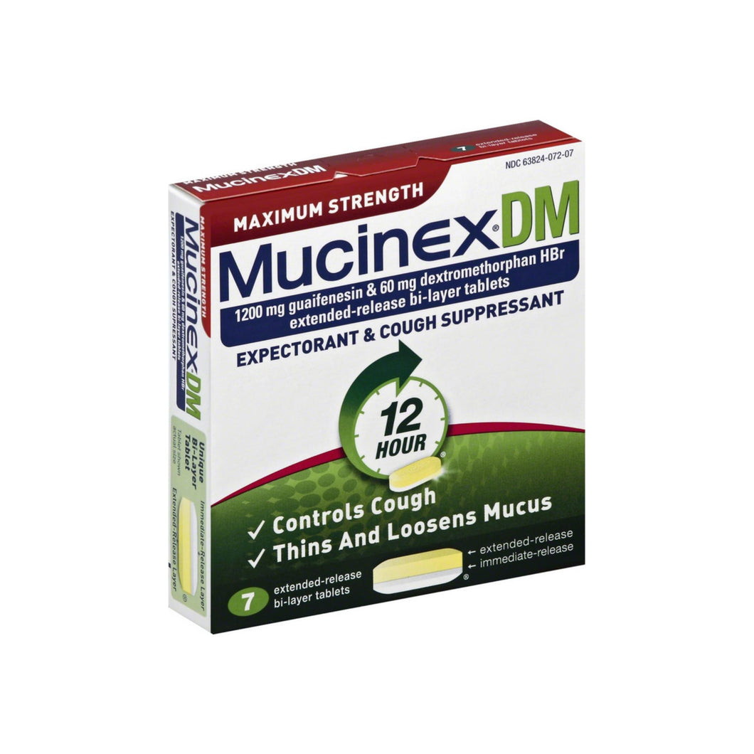 Mucinex DM Max Strength Extended Release Bi-Layer Tablets 7 ea