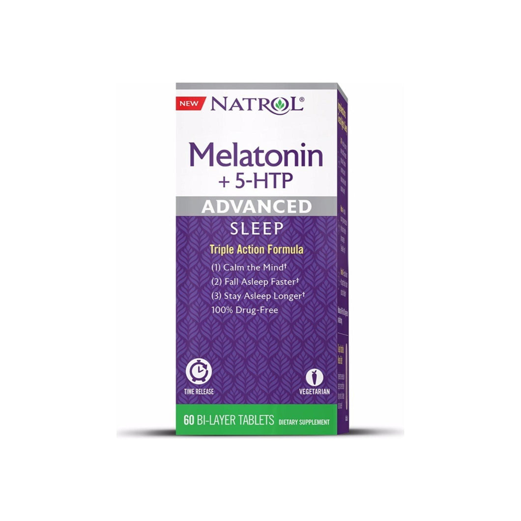 Natrol Advanced Sleep Melatonin + 5 HTP Bi-Layer Tablets 60 ea