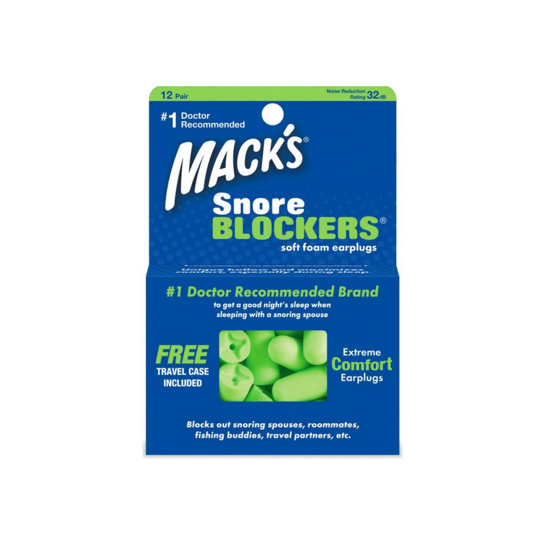 Mack's Snore Blockers Soft Foam Earplugs 12 Pairs