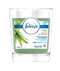 Febreeze Air Freshener, Scented Air Freshener Candle, Meadows and Rain 6.3 oz