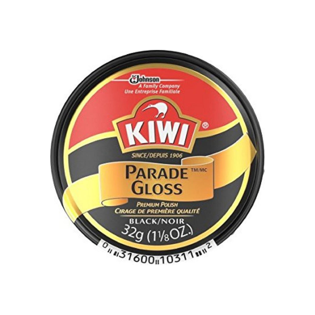 KIWI Parade Gloss Premium Shoe Polish Paste, Black 1.125 oz [031600103112]
