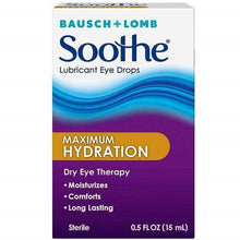 Load image into Gallery viewer, Bausch + Lomb Soothe Long Lasting Lubricant Eye Drops 0.5 oz