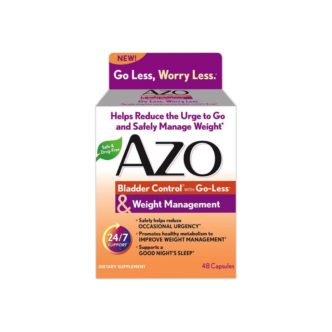 AZO Bladder Control with Go-Less & Weight Management Capsules 48 ea [787651760148]