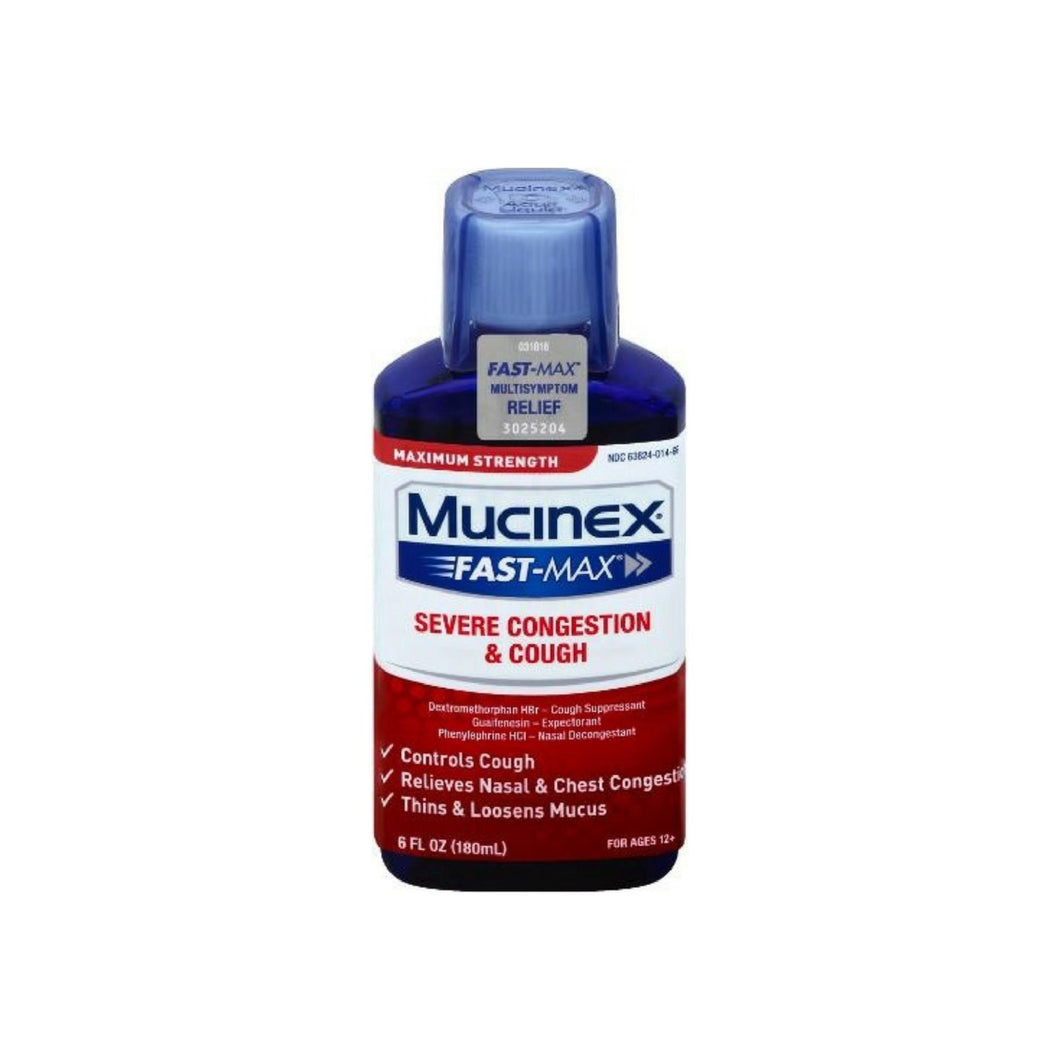 Mucinex Fast-Max Adult Severe Congestion and Cough Liquid, 6 oz