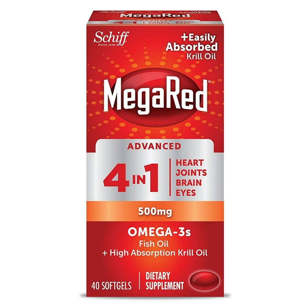 Megared Advanced 4 in1 500 Mg Omega 3 Supplement 40 ea