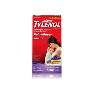 TYLENOL Pain + Fever Infants, Grape Flavor  1 oz - Pharmapacks