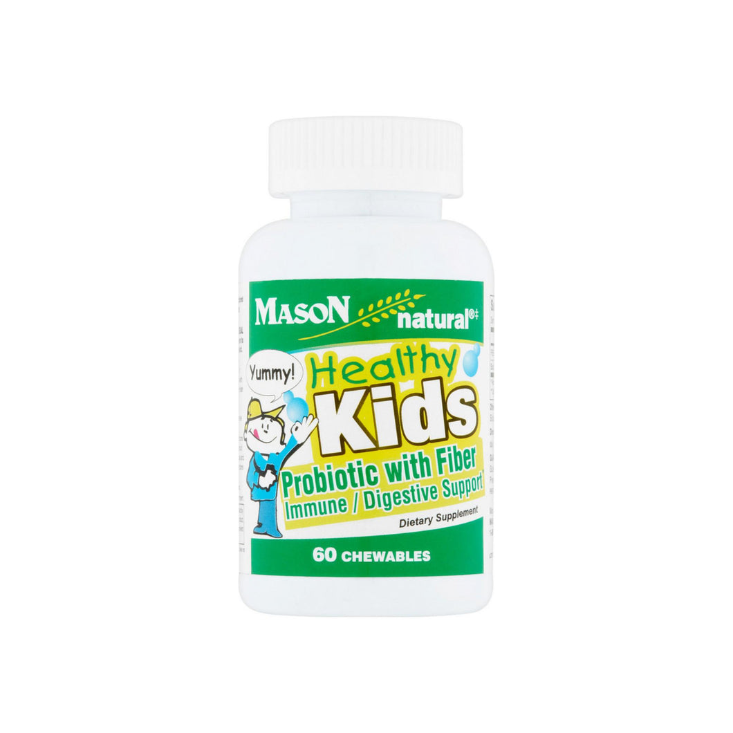 Mason Natural Healthy Kids Probiotic with Fiber Immune/Digestive Support Chewable Tablets 60 ea