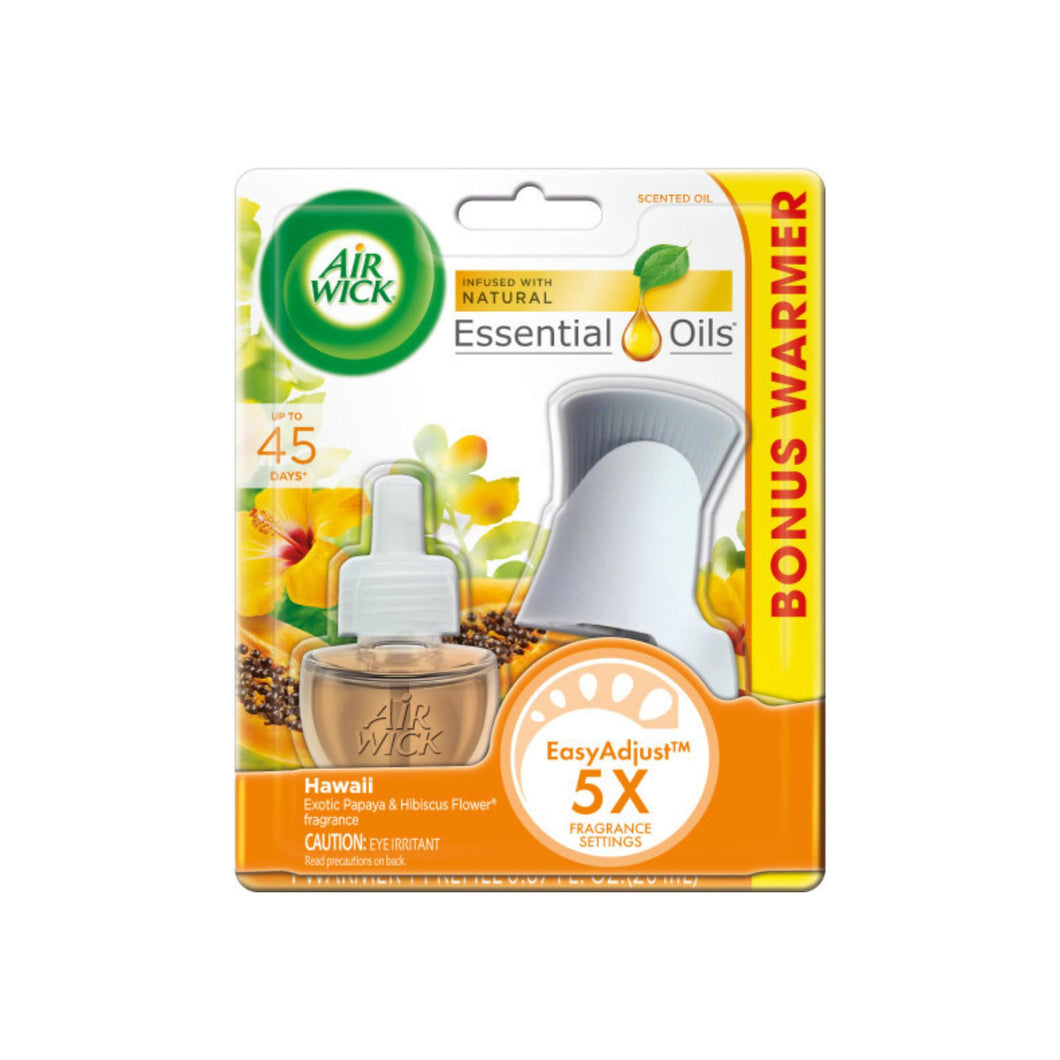 Air Wick Scented Oil Air Freshener Starter Kit, National Park Collection, Hawaii Scent 1 ea