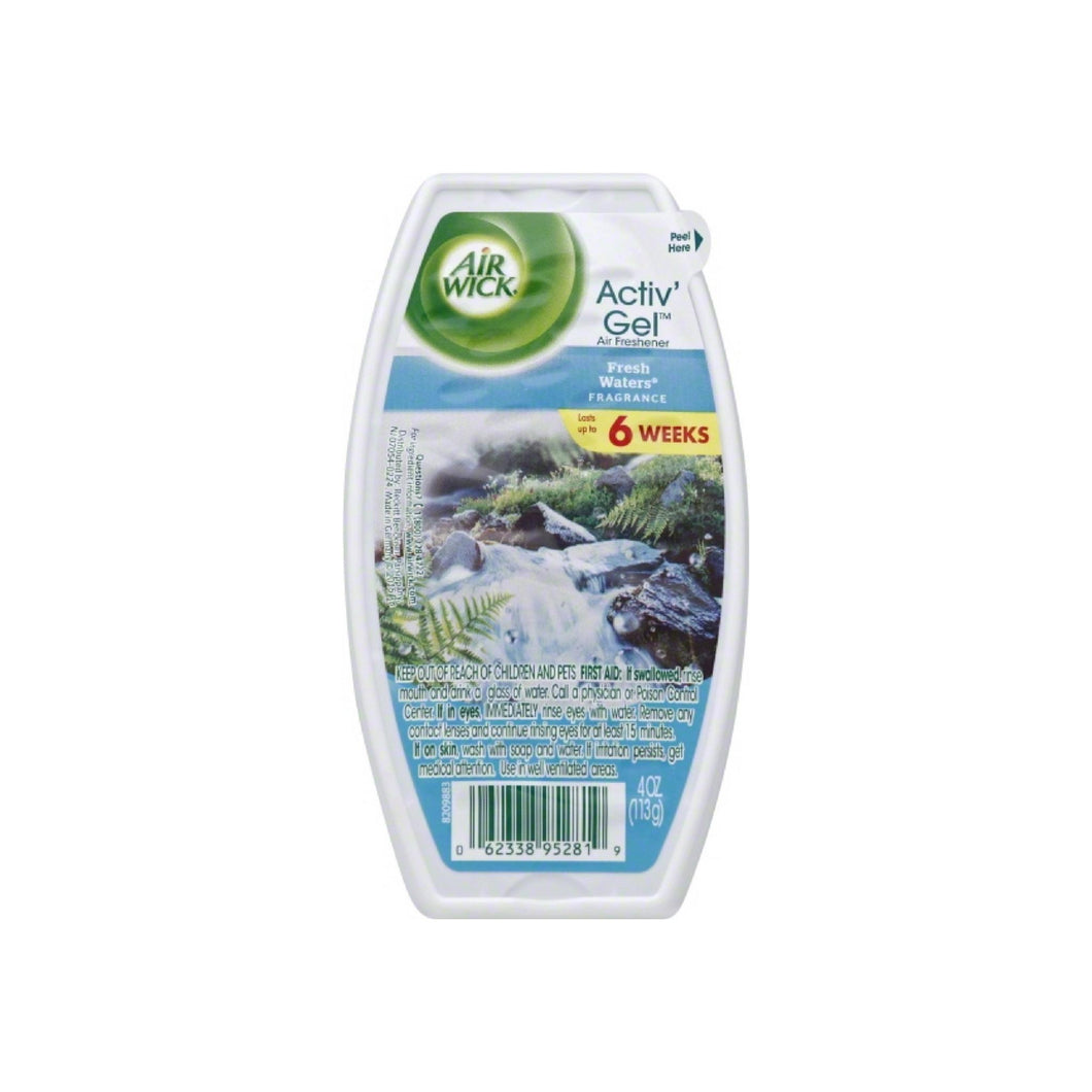 Air Wick Activ' Gel Air Freshener, Fresh Water 4 oz
