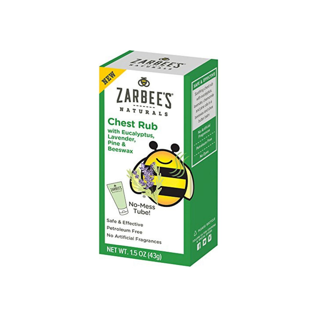 ZarBee's Naturals  Chest Rub with Eucalyptus, Lavender, Pine, and Beeswax 1.5 oz