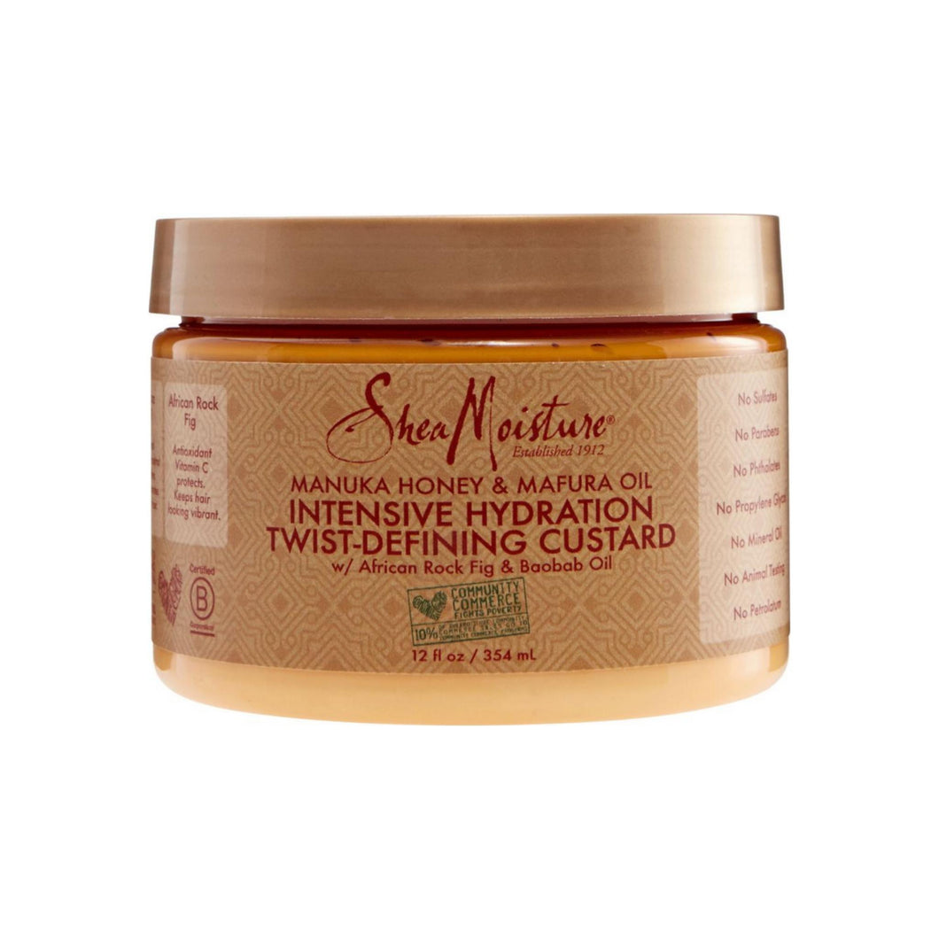Shea Moisture Manuka Honey & Mafura Oil Intensive Hydration Twist- Defining Custard 12 oz