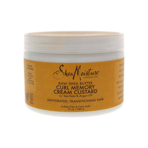 Shea Moisture Raw Shea Butter Curl Memory Cream Custard 12 oz