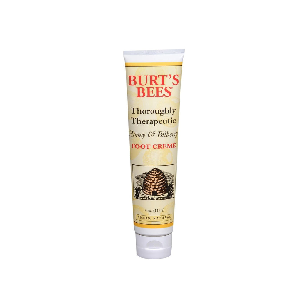 Burt's Bees Thoroughly Therapeutic Honey & Bilberry Foot Creme 4 oz