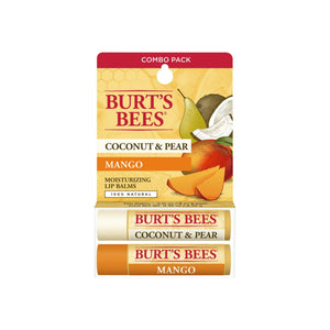 Burt's Bees 100% Natural Moisturizing Lip Balm, Coconut & Pear and Mango 1 ea
