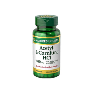 Nature's Bounty Acetyl L-Carnitine With Alpha Lipoic Acid Capsules 30 Capsules