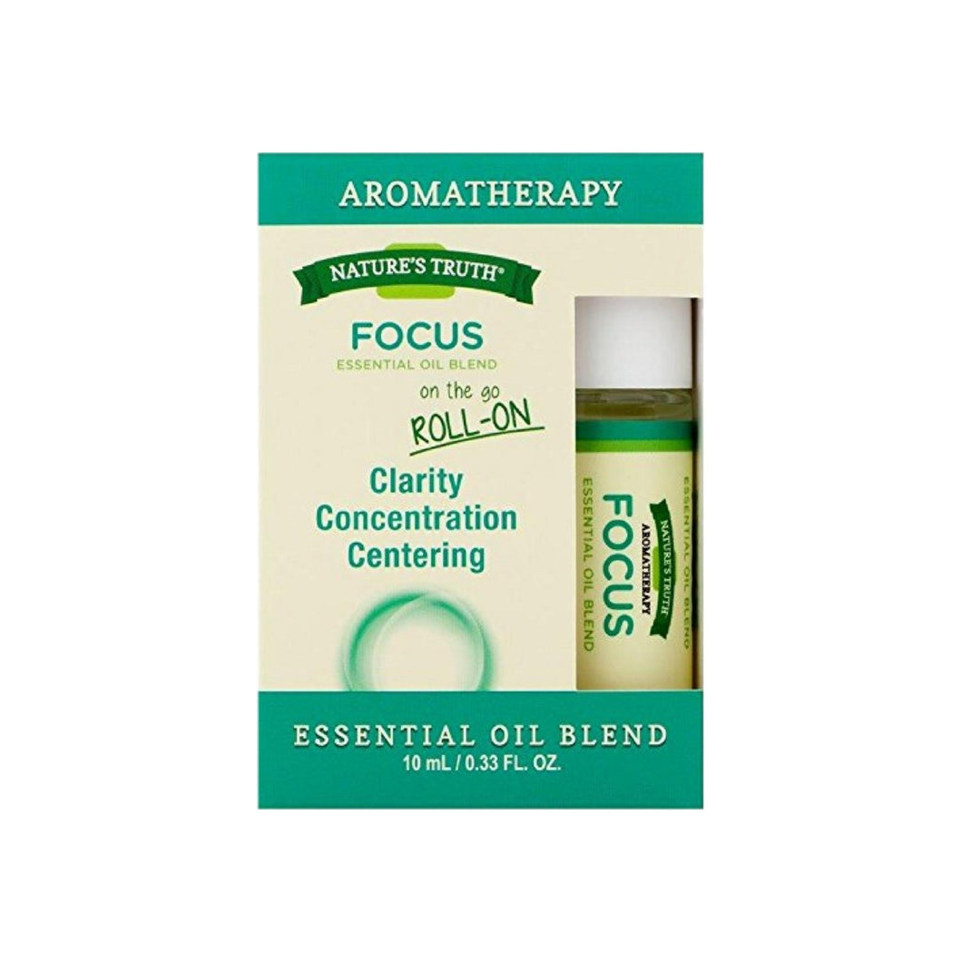 Nature's Truth Essential Oil Roll-On Blend, Focus 0.33 oz