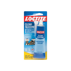 Loctite Clear Silicone Waterproof Sealant, Tube 2.7 oz