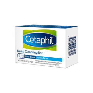 Cetaphil Deep Cleansing Face & Body Bar for All Skin Types 4.5 oz
