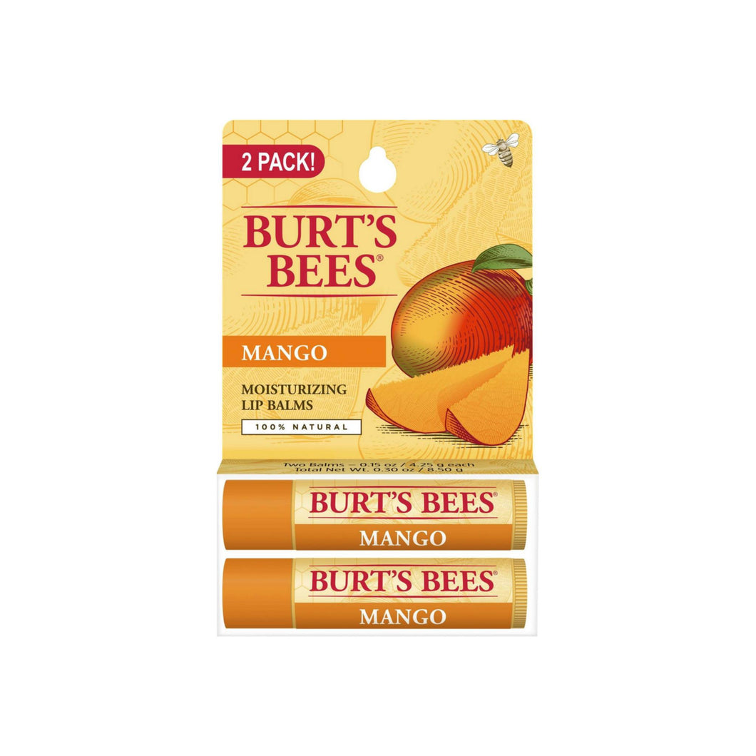 Burt's Bees Lip Balm Nourishing with Mango Twin Pack  2 ea