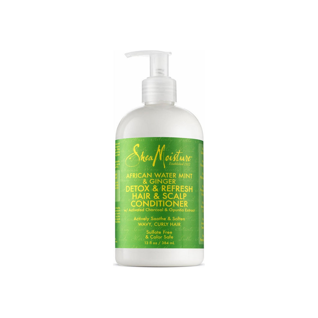 Shea Moisture African Water Mint & Ginger Detox & Refresh Hair & Scalp Conditioner 13 oz