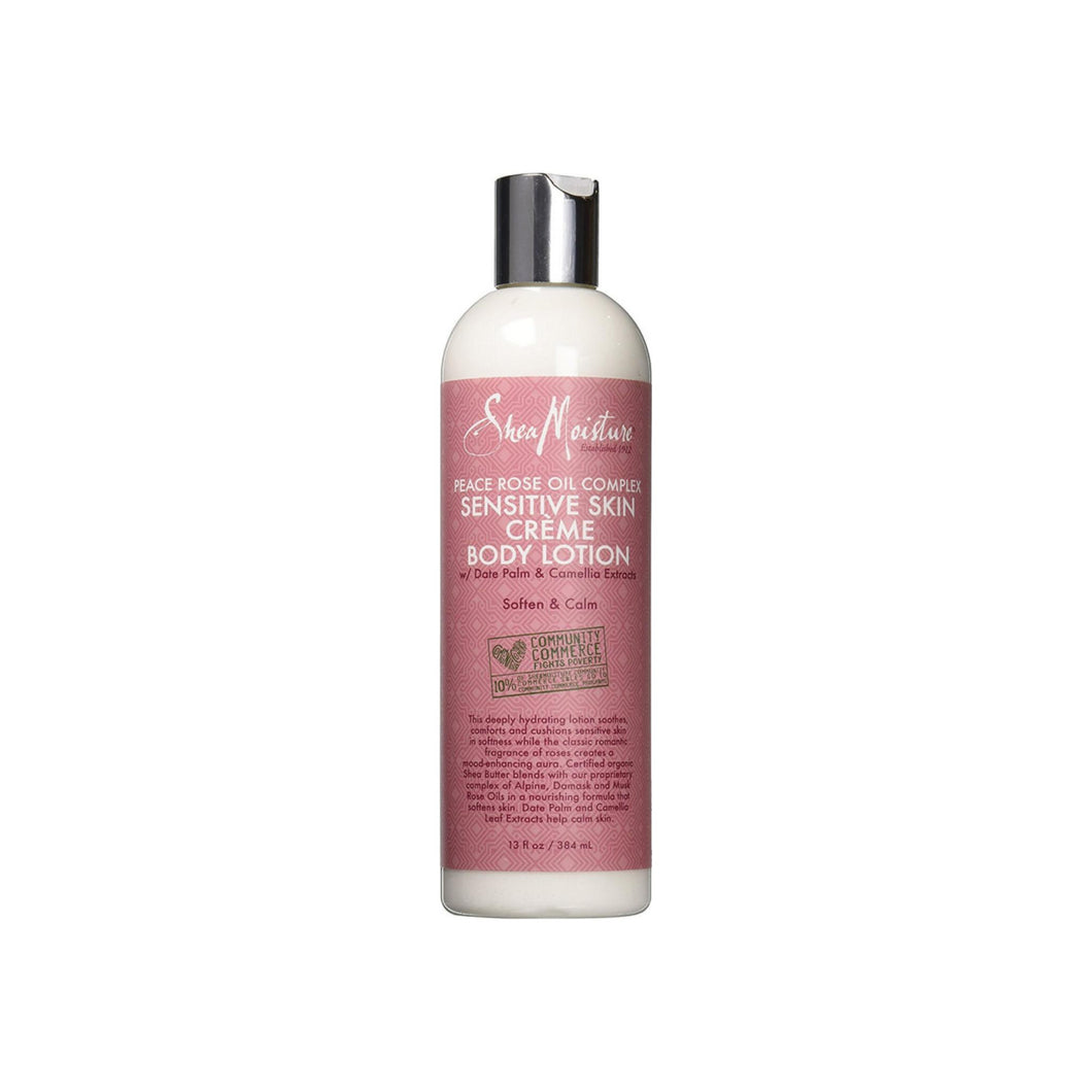 Shea Moisture Peace Rose Oil Complex Sensitive Skin Crème Body Lotion 13 oz