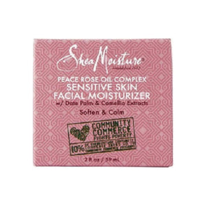 Shea Moisture Peace Rose Oil Complex Sensitive Skin Facial Moisturizer 2 oz