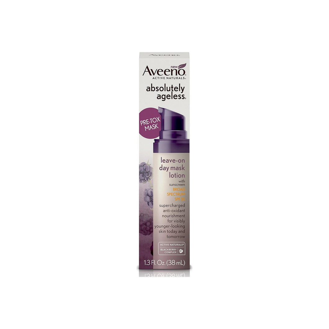 AVEENO Absolutely Ageless Leave-on Day Mask Face Lotion with SPF 30, Anti-Aging Skin Care 1.3 oz