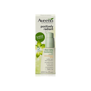 AVEENO Positively Radiant Sheer Daily Moisturizing Lotion for Dry Skin with SPF 30 2.5 oz