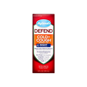 Hyland's DEFEND Cold and Cough Night Syrup 4 oz