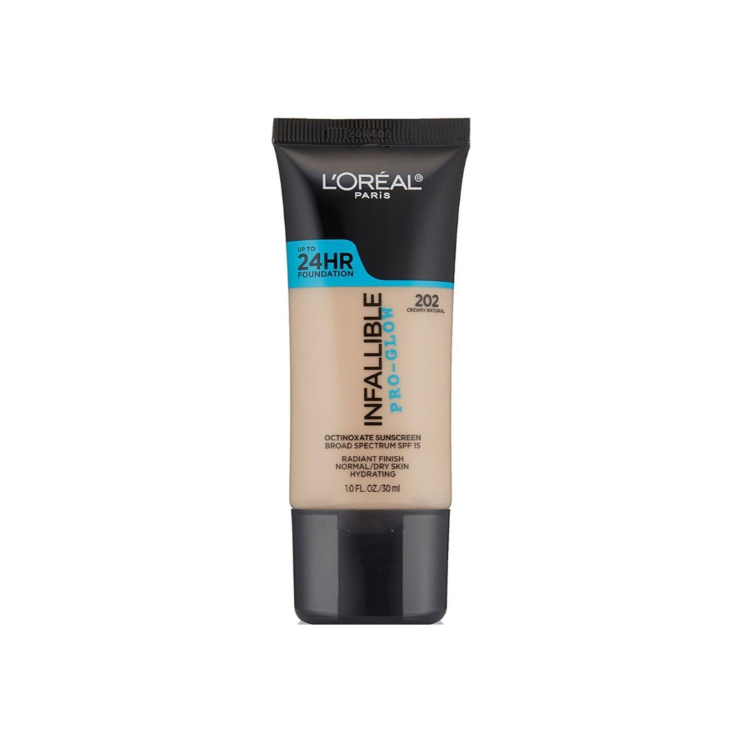 L'Oreal Infallible Face Pro-Glow Foundation, Creamy Natural 1 oz