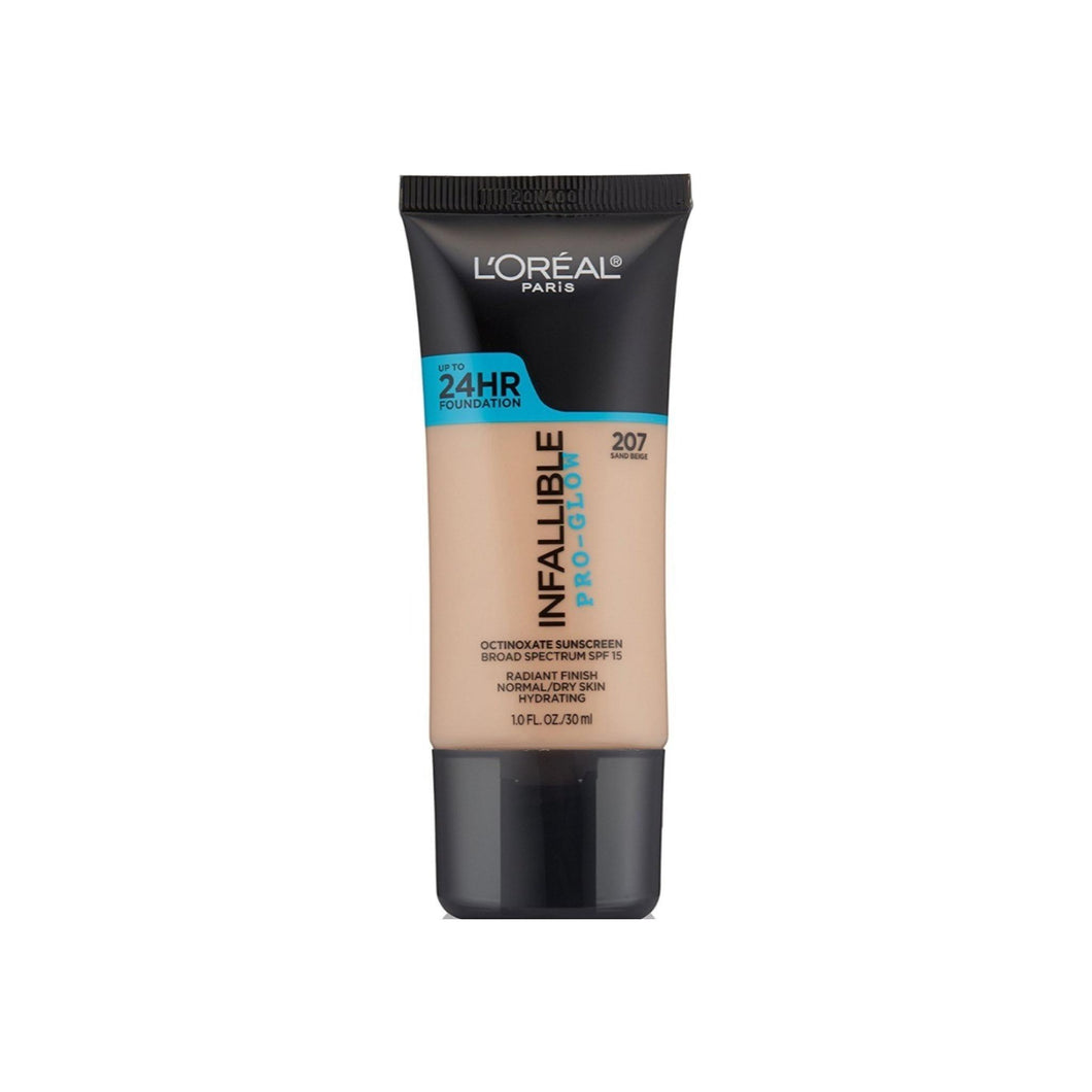 L'Oreal Infallible Pro-Glow Foundation, Sand Beige 1 oz