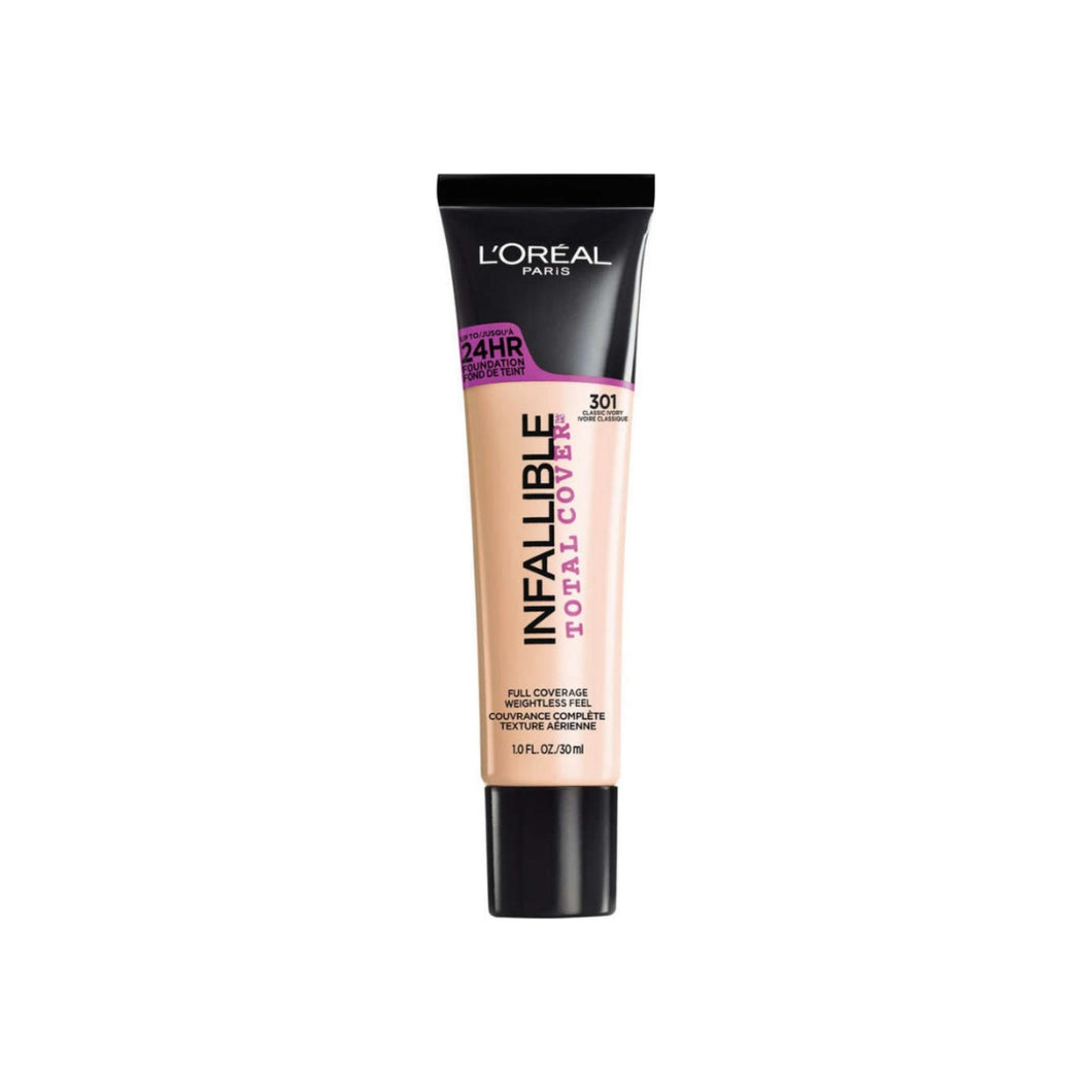 L'Oreal Infallible Total Cover Foundation, Classic Ivory 1 oz