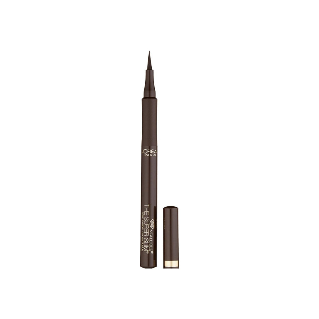 L'Oreal Infallible Super Slim Liquid Eyeliner, Brown 0.034 oz